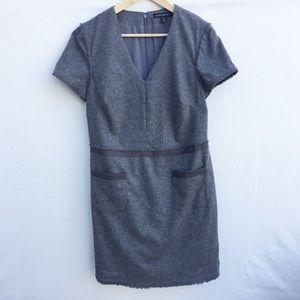 Banana Republic grey sheet dress w/ front pockets